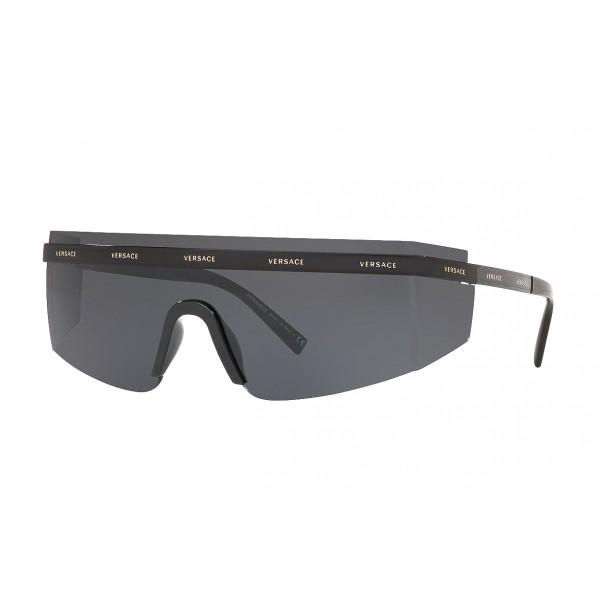Versace - Occhiale da Sole Versace Logomania - Grigio - Occhiali da Sole - Versace Eyewear