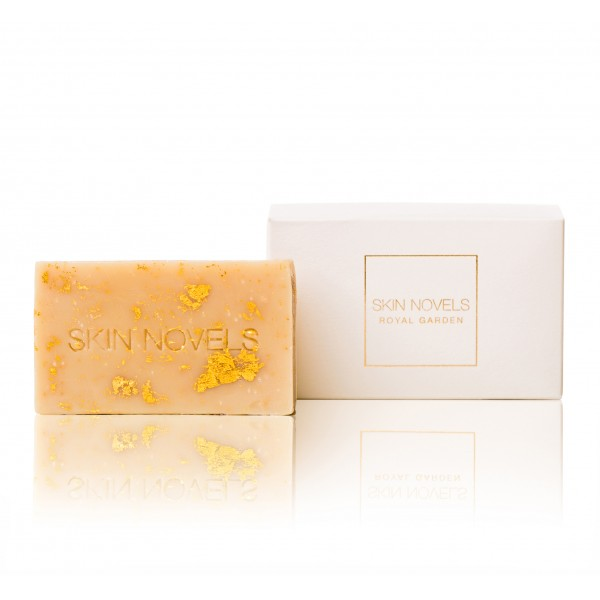 Skin Novels - Royal Garden - Natural Soap with Amber & 24k Gold - 100 % Natural Handmade Soap