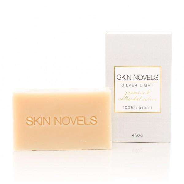 Skin Novels - Silver Light - Sapone Naturale con Nano-Argento e Gelsomino - Sapone Naturale al 100 % Realizzato a Mano