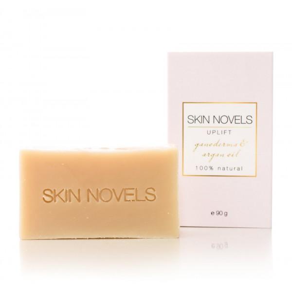 Skin Novels - Uplift - Sapone Naturale con Ganoderma e Basilico Tropicale - Sapone Naturale al 100 % Realizzato a Mano