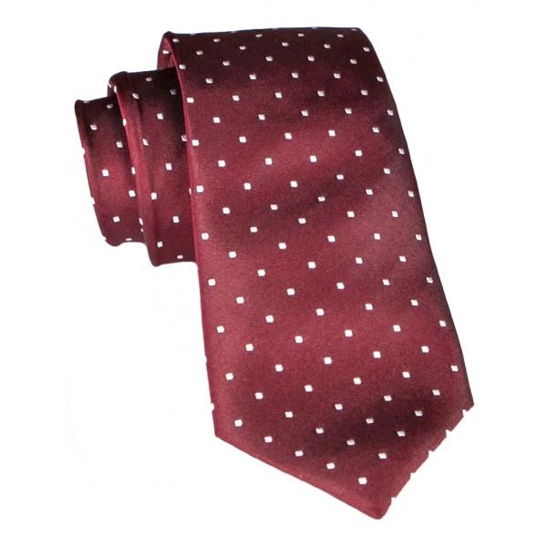 Cravates E.G. - Cravatta a Pois - Bordeaux