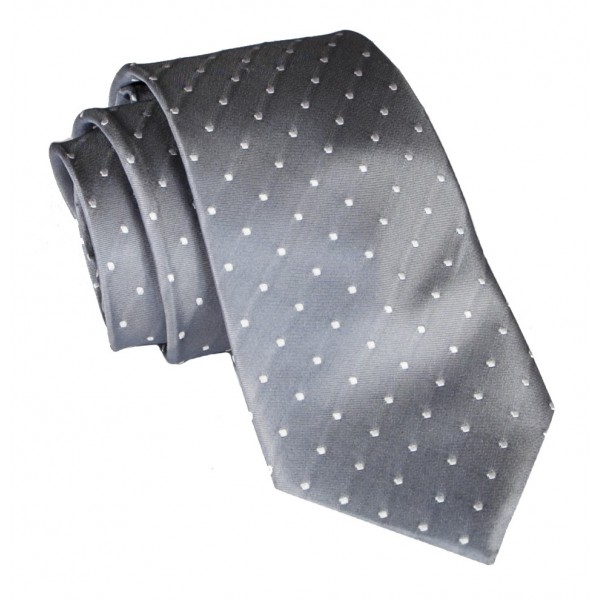 Cravates E.G. - Polka Dot Tie - Ice Gray
