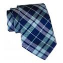 Cravates E.G. - Cravatta Tartan - Blu Marino