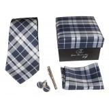 Cravates E.G. - Tartan Tie - Gray