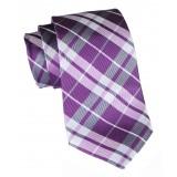 Cravates E.G. - Tartan Tie - Magenta Rose