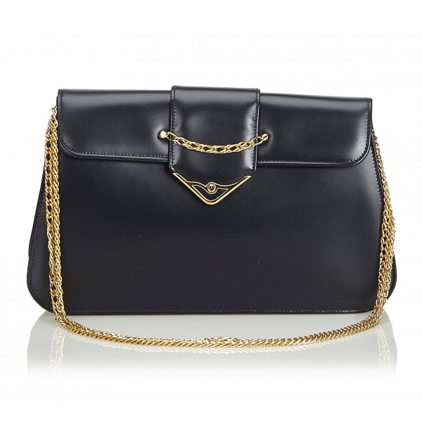 Cartier Vintage - Leather S De Cartier Sapphire - Black - Leather Shoulder Bag - Luxury High Quality