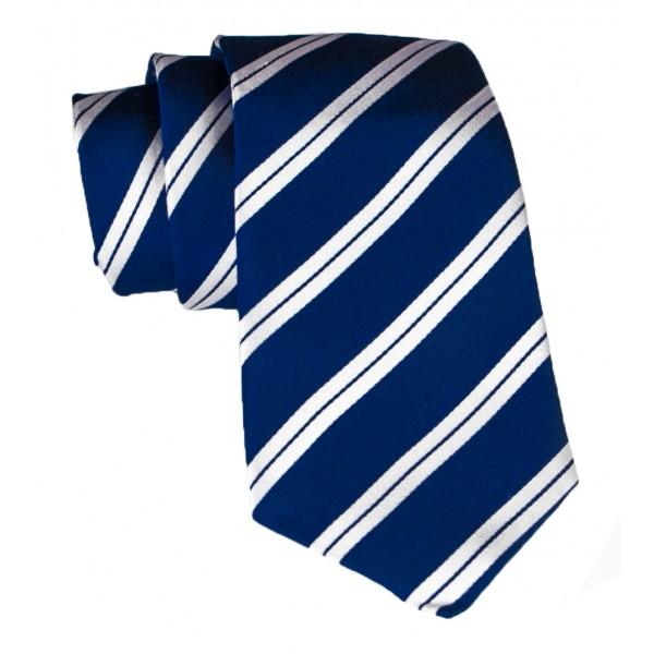 Cravates E.G. - Cravatta a Doppia Striscia - Blu Notte