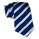 Cravates E.G. - Double Strip Tie - Midnight Blue