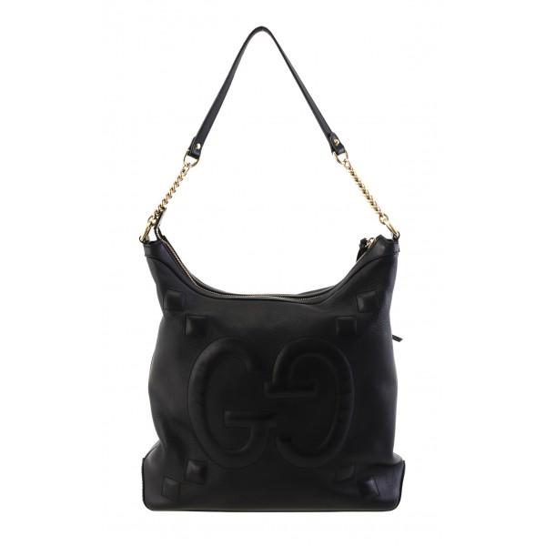 Black leather tote Black leather bag Shoulder embossed leather Black oversized bag Women black shoulder bag Black hobo purse