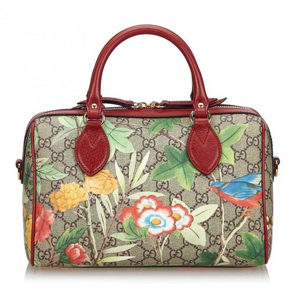 Gucci Vintage - GG Supreme Tian Handbag - Brown - Leather Handbag - Luxury High Quality