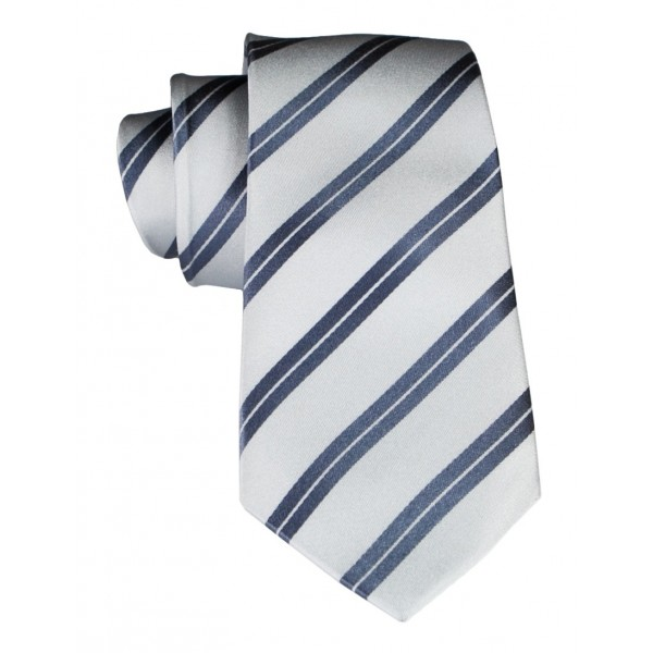 Cravates E.G. - Double Strip Tie - Mix of Gray and Ice Gray