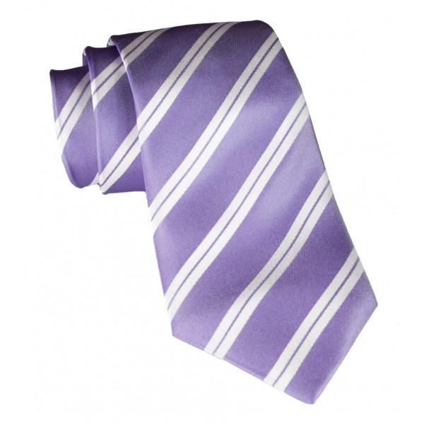 Cravates E.G. - Cravatta a Doppia Striscia - Lilla