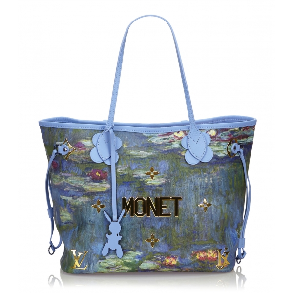 Louis Vuitton Vintage - 2017 Masters Collection Neverfull MM Monet Bag - Blue - Leather Handbag - Luxury High Quality