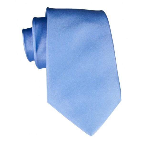 Cravates E.G. - Cravatta Satinata - Blu Reale