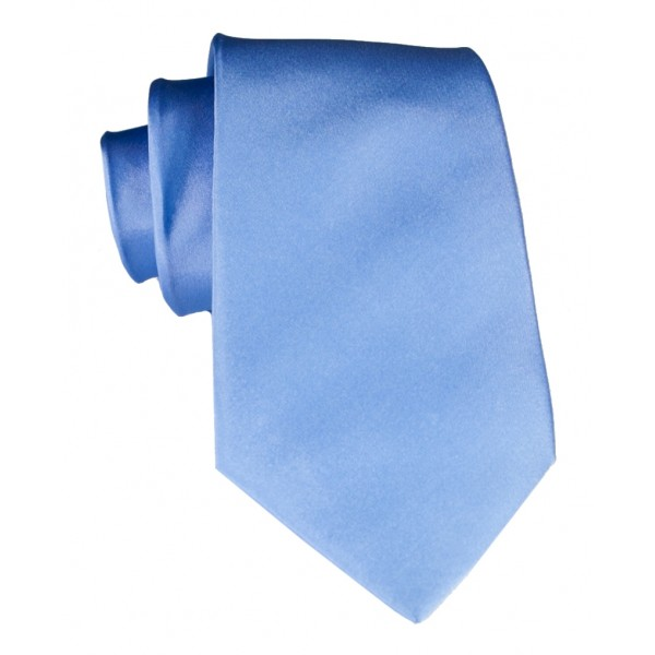 Cravates E.G. - Solid Satin Tie - Royal Blue