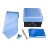 Cravates E.G. - Solid Satin Tie - Royal Blue