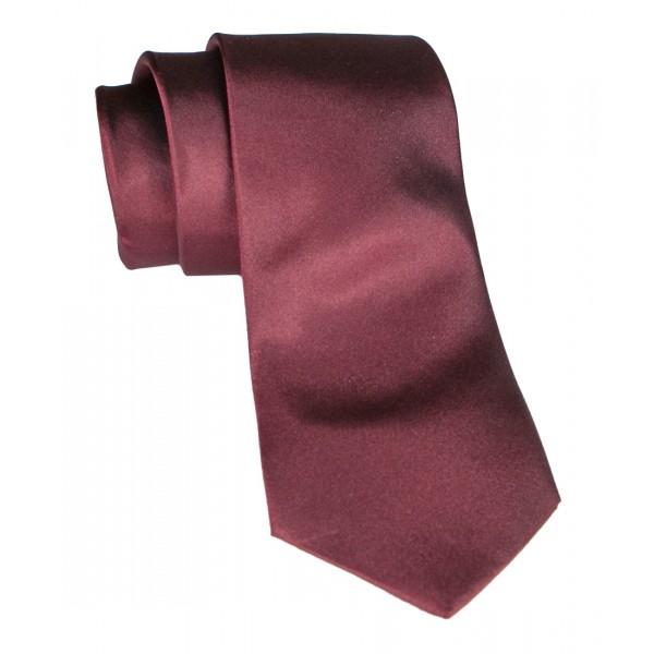 Cravates E.G. - Cravatta Satinata - Bordeaux