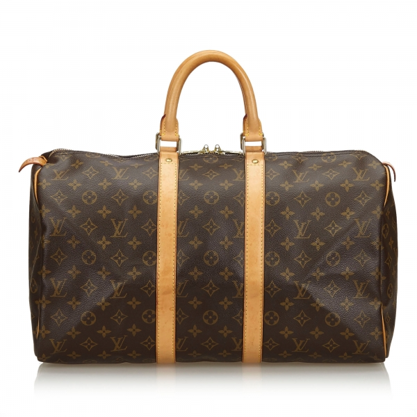 Louis Vuitton Vintage - Monogram Keepall 45 Bag - Marrone - Borsa in Pelle Monogram - Alta Qualità Luxury