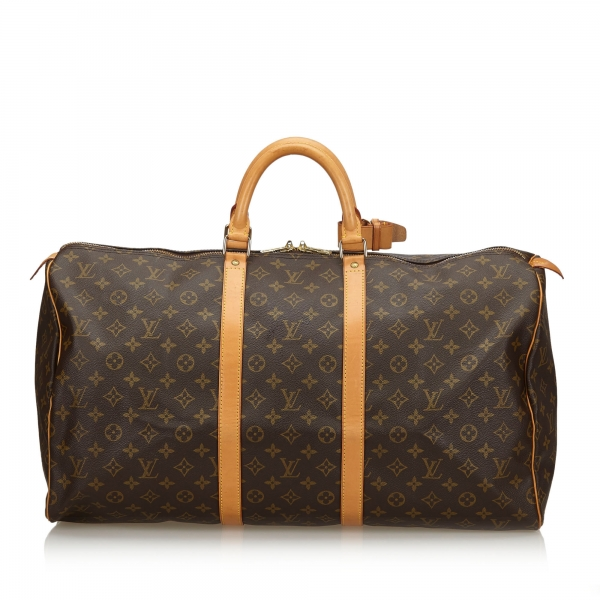Louis Vuitton Vintage - Monogram Keepall 55 Bag - Brown - Monogram Leather Handbag - Luxury High Quality