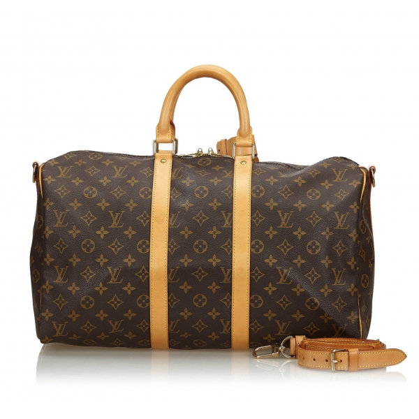 Louis Vuitton Vintage - Monogram Keepall Bandouliere 45 Bag - Marrone - Borsa in Pelle Monogram - Alta Qualità Luxury