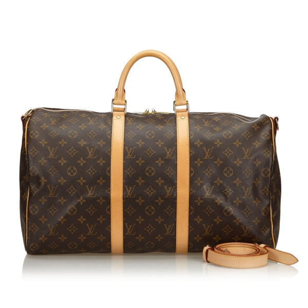 Louis Vuitton Vintage - Monogram Keepall Bandouliere 50 Bag - Brown - Monogram Leather Handbag - Luxury High Quality