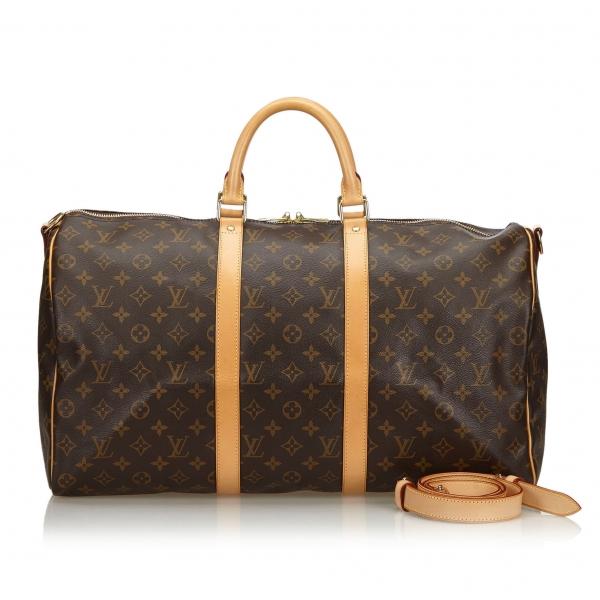 Louis Vuitton Vintage - Monogram Keepall Bandouliere 50 Bag - Marrone - Borsa in Pelle Monogram - Alta Qualità Luxury