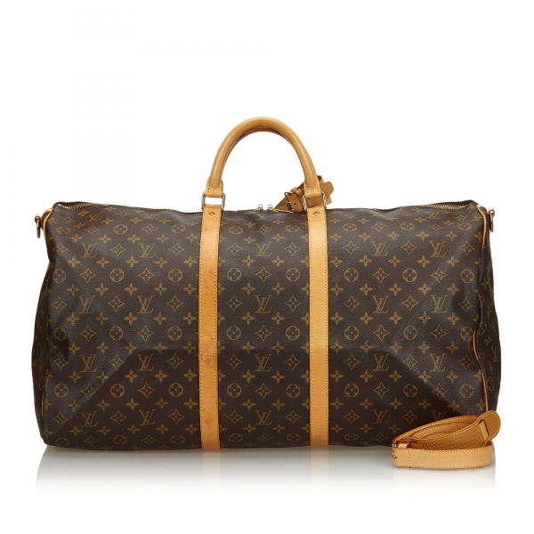 Louis Vuitton Vintage - Monogram Keepall Bandouliere 60 Bag - Marrone - Borsa in Pelle Monogram - Alta Qualità Luxury