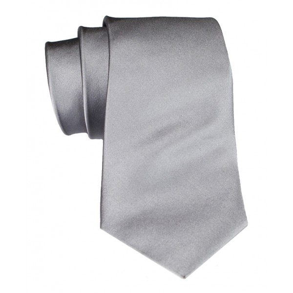 Cravates E.G. - Solid Satin Tie - Ice Gray