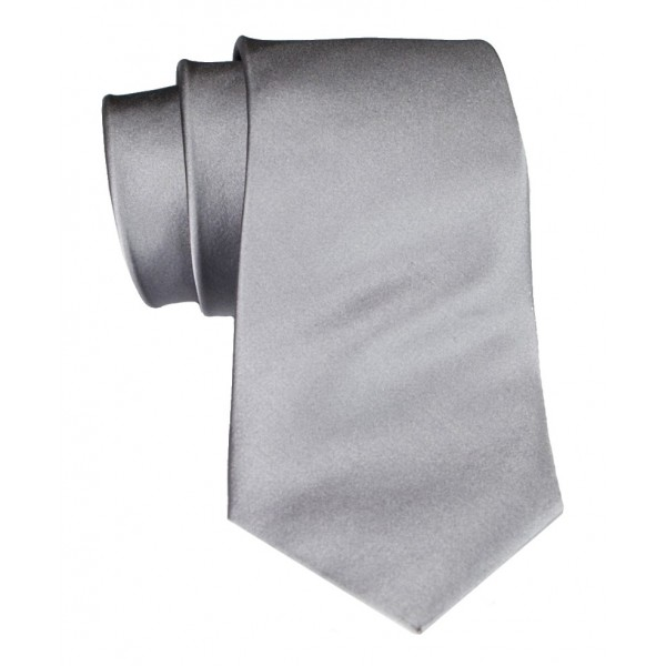 Cravates E.G. - Solid Satin Tie - Ice Gray