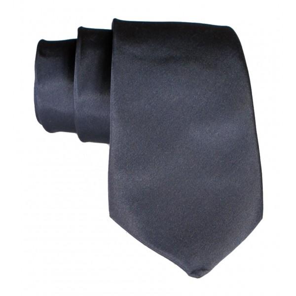 Cravates E.G. - Solid Satin Tie - Slate Gray