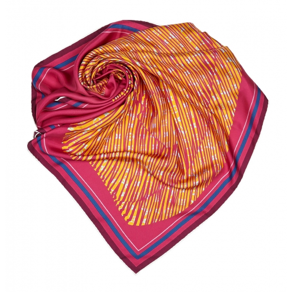 Louis Vuitton Vintage - Printed Silk Scarf - Rosa - Foulard LV in Seta - Alta Qualità Luxury