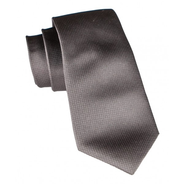 Cravates E.G. - Solid Square Pattern Tie - Dark Brown Maduro Colorado