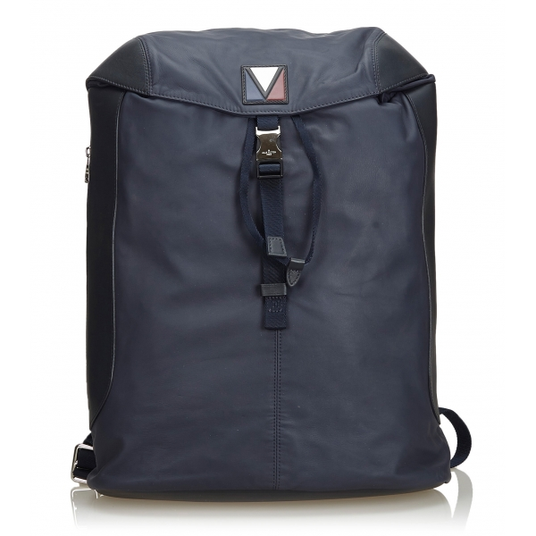 Louis Vuitton Vintage - V-Line Pulse Backpack Bag - Black - Leather Bag Backpack - Luxury High Quality