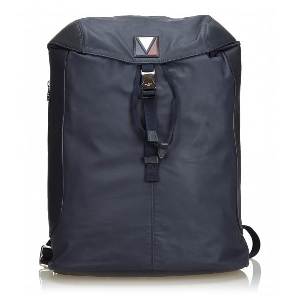 Louis Vuitton Vintage - V-Line Pulse Backpack Bag - Nero - Borsa Zaino in Pelle - Alta Qualità Luxury