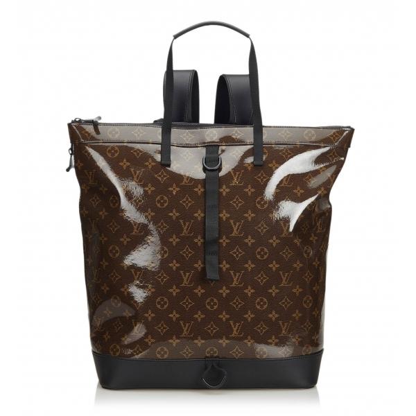 Louis Vuitton Vintage - Monogram Glaze Backpack Bag - Brown - Leather Bag Backpack - Luxury High Quality