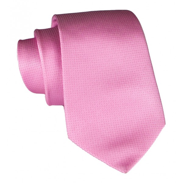 Cravates E.G. - Solid Square Pattern Tie - Warm Rose
