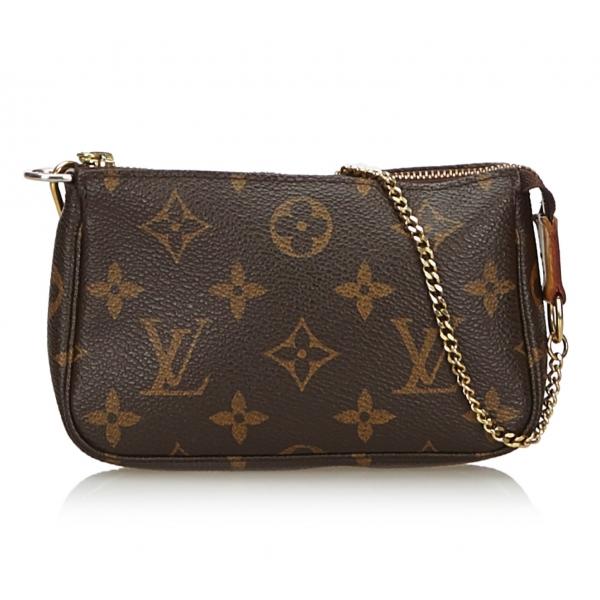 acheter populaire b1df2 d2489 Louis Vuitton Vintage - Monogram Mini Pochette Accessoires Bag - Brown -  Monogram Leather Handbag - Luxury High Quality