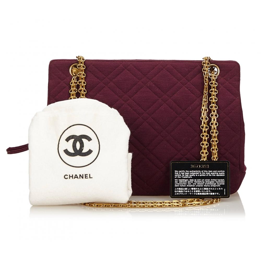 Chanel Vintage - Matelasse Wool Shoulder Bag - Rosso ...