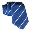 Cravates E.G. - Single Stripe Tie - Cobalt Blue
