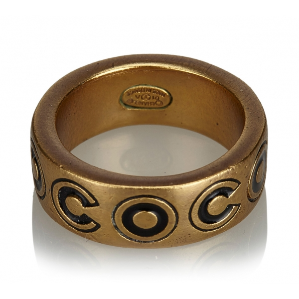 Chanel Vintage - Gold-Toned Ring - Oro - Anello Chanel - Alta Qualità Luxury