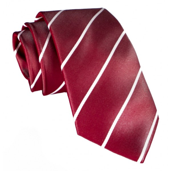 Cravates E.G. - Single Stripe Tie - Cardinal Red