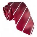 Cravates E.G. - Single Stripe Tie - Cardinal Red
