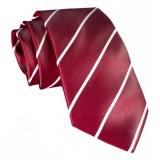 Cravates E.G. - Cravatta a Striscia Singola - Rosso Cardinale