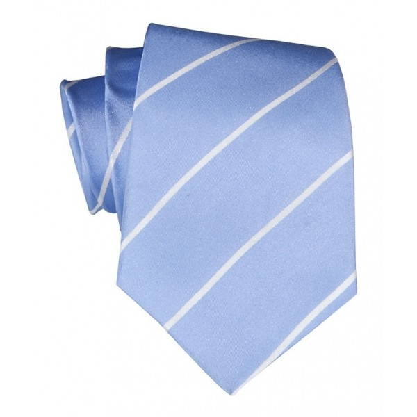 Cravates E.G. - Cravatta a Striscia Singola - Celeste
