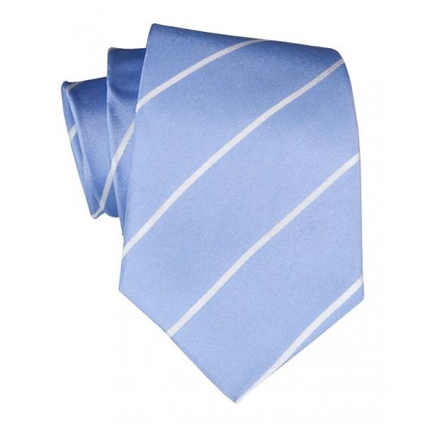 Cravates E.G. - Single Stripe Tie - Sky Blue