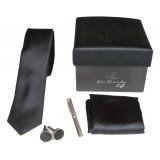 Cravates E.G. - Cravatta Slim - Nero Inchiostro