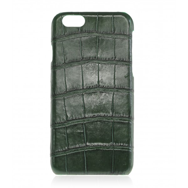 2 ME Style - Case Croco Vert Bouteille - iPhone 8 / 7 - Leather Cover