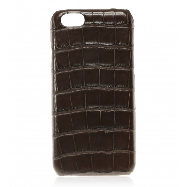 2 ME Style - Case Croco Marron - iPhone 8 / 7 - Leather Cover