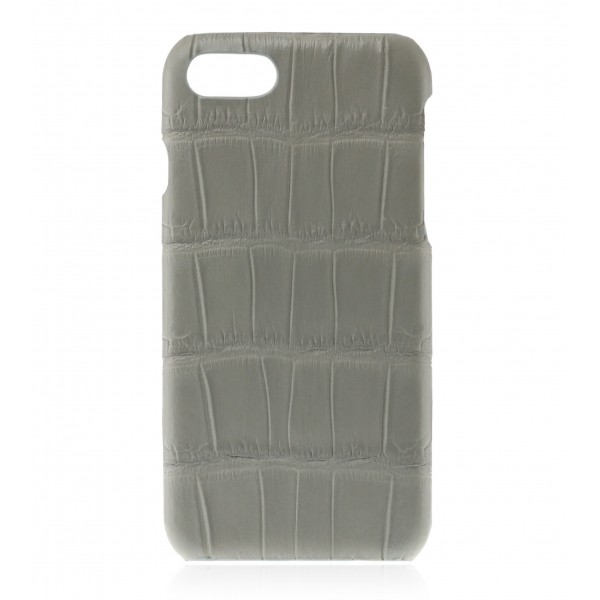 2 ME Style - Cover Croco Gris Clair - iPhone 8 / 7 - Cover in Pelle