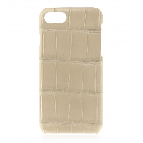 2 ME Style - Case Croco Beige - iPhone 8 / 7 - Leather Cover